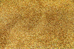 Festlicher Goldfunkelnhintergrund Stockbild