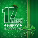 Festlicher grüner Hintergrund zu Tag St. Patricks Glücklicher Tag Str 17. März Lizenzfreies Stockfoto