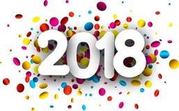 festlicher Hintergrund des neuen Jahres 2018 Lizenzfreie Stockfotos