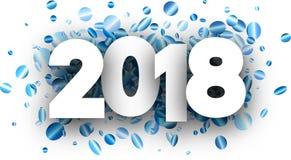 festlicher Hintergrund des neuen Jahres 2018 Lizenzfreies Stockfoto