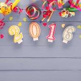 Festlicher Hintergrund des neuen Jahres 2016 Lizenzfreies Stockbild