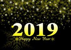 Festlicher Hintergrund 2019-guten Rutsch ins Neue Jahr-Illustration lizenzfreie stockbilder