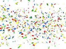 Festlicher Hintergrund von Confetti Lizenzfreie Stockfotografie