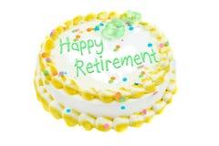Festlicher Kuchen des glücklichen Ruhestandes Stockfotos