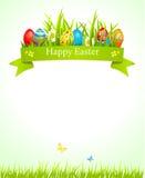 Festlicher Ostern-Hintergrund lizenzfreie abbildung