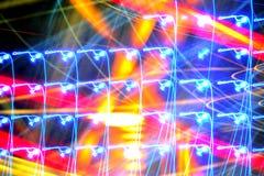 Festlicher Partei-Disco-Club-Licht-Unschärfe-Hintergrund Lizenzfreie Stockfotografie