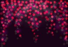 Festlicher purpurroter und rosa leuchtender Hintergrund Lizenzfreies Stockbild