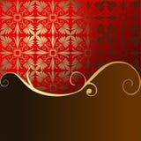 Festlicher roter Hintergrund Stockfoto