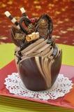 Festlicher Schokoladenkleiner kuchen Lizenzfreies Stockbild