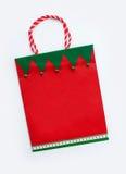 Festlicher Weihnachtsfeiertags-Geschenk-Beutel lizenzfreie stockfotos