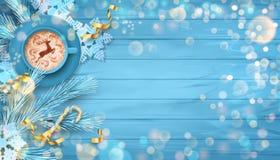 Festlicher Weihnachtshintergrund stockfotografie