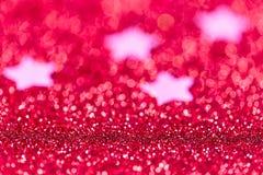 Festlicher Weihnachtshintergrund mit Sternen Zusammenfassung funkelte brigh Stockbilder