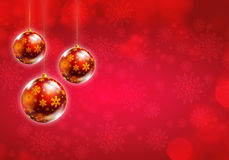 Weihnachtshintergrundrot Stockfotos