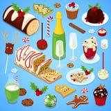 Festliches Abendessen der Weihnachtsküche Lizenzfreie Stockbilder