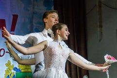 Festliches Ereignis widmete sich Tag von Arbeitskräften der Wohnung und der Kommunalservices in Kaluga (Russland) am 17. März 201 Lizenzfreie Stockbilder