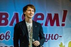 Festliches Ereignis widmete sich Tag von Arbeitskräften der Wohnung und der Kommunalservices in Kaluga (Russland) am 17. März 201 Lizenzfreie Stockfotografie