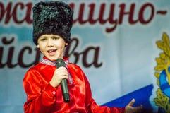 Festliches Ereignis widmete sich Tag von Arbeitskräften der Wohnung und der Kommunalservices in Kaluga (Russland) am 17. März 201 Stockbilder