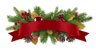 Festliches Girlandenweihnachtselement stockbilder