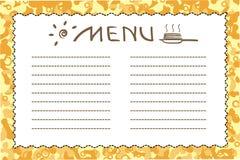 Festliches Menü, maslenitsa, shrovetide, Pfannkuchen-förmig Stockbild