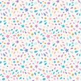 Festliches Muster mit Funkelnkonfettis, spielt die Hauptrolle und spritzt Für Geburtstagsfeier lizenzfreie stockfotos
