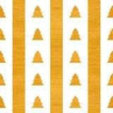 Festliches nahtloses geometrisches Goldstrukturiertes Muster Stockfoto