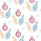 Festliches nahtloses Muster mit Birnen-Girlanden Lizenzfreies Stockfoto