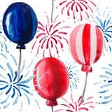 Festliches nahtloses Muster zu Ehren des Unabhängigkeitstags vektor abbildung