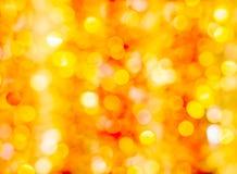 Festliches orange und gelbes bokeh Lizenzfreies Stockbild