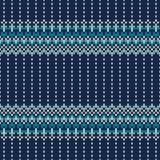 Festliches und modernes Strickjacken-Design Nahtloses gestricktes Muster Lizenzfreie Stockfotos