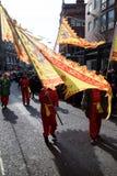Festlichkeiten, zum des Chinesischen Neujahrsfests in London für Jahr von zu feiern stockbilder