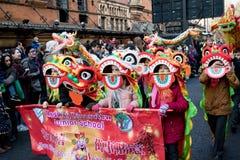 Festlichkeiten, zum des Chinesischen Neujahrsfests in London für Jahr von zu feiern stockfotografie