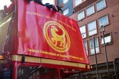 Festlichkeiten, zum des Chinesischen Neujahrsfests in London für Jahr von zu feiern lizenzfreie stockbilder