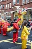 Festlichkeiten, zum des Chinesischen Neujahrsfests in London für Jahr von zu feiern stockfotos