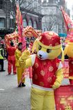 Festlichkeiten, zum des Chinesischen Neujahrsfests in London für Jahr von zu feiern lizenzfreies stockfoto