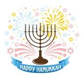 Festlig bakgrund för Chanukkah vektor illustrationer