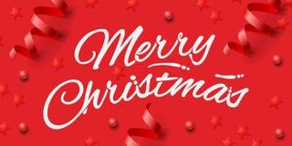 Festlig bakgrund för glad jul, illustration Royaltyfri Fotografi