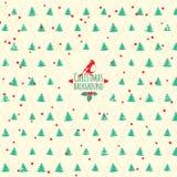 Festlig bakgrund för glad jul. Vektorjulgran Arkivfoton