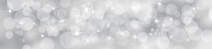 Festlig bakgrund för silver royaltyfri illustrationer