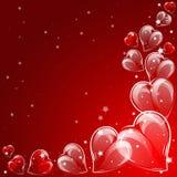 Festlig bakgrund med hjärtor på valentin dag Februari 14 dag för alla vänner Royaltyfri Fotografi