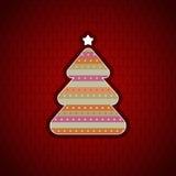 Festlig bakgrund med julgranen Arkivfoton