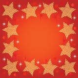Festlig bakgrund med stjärnor Arkivbild