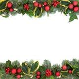 Festlig bakgrundsgräns för jul Royaltyfria Foton