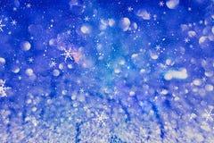 festlig bakgrundsjul Elegant abstrakt bakgrund med ljus och stjärnor Royaltyfria Foton