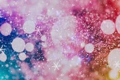festlig bakgrundsjul Elegant abstrakt bakgrund med ljus och stjärnor Royaltyfri Fotografi