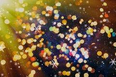 festlig bakgrundsjul Elegant abstrakt bakgrund med ljus och stjärnor Arkivfoton