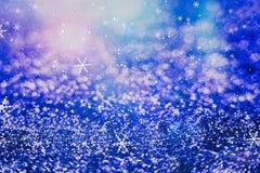 festlig bakgrundsjul Elegant abstrakt bakgrund med ljus och stjärnor Royaltyfri Foto