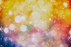 festlig bakgrundsjul Elegant abstrakt bakgrund med ljus och stjärnor Royaltyfria Bilder