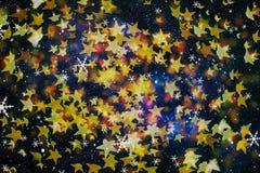 festlig bakgrundsjul Elegant abstrakt bakgrund med ljus och stjärnor Arkivbilder