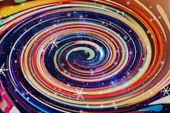 festlig bakgrundsjul Elegant abstrakt bakgrund med ljus och stjärnor Arkivbild