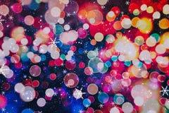 festlig bakgrundsjul Elegant abstrakt bakgrund med ljus och stjärnor Arkivfoto